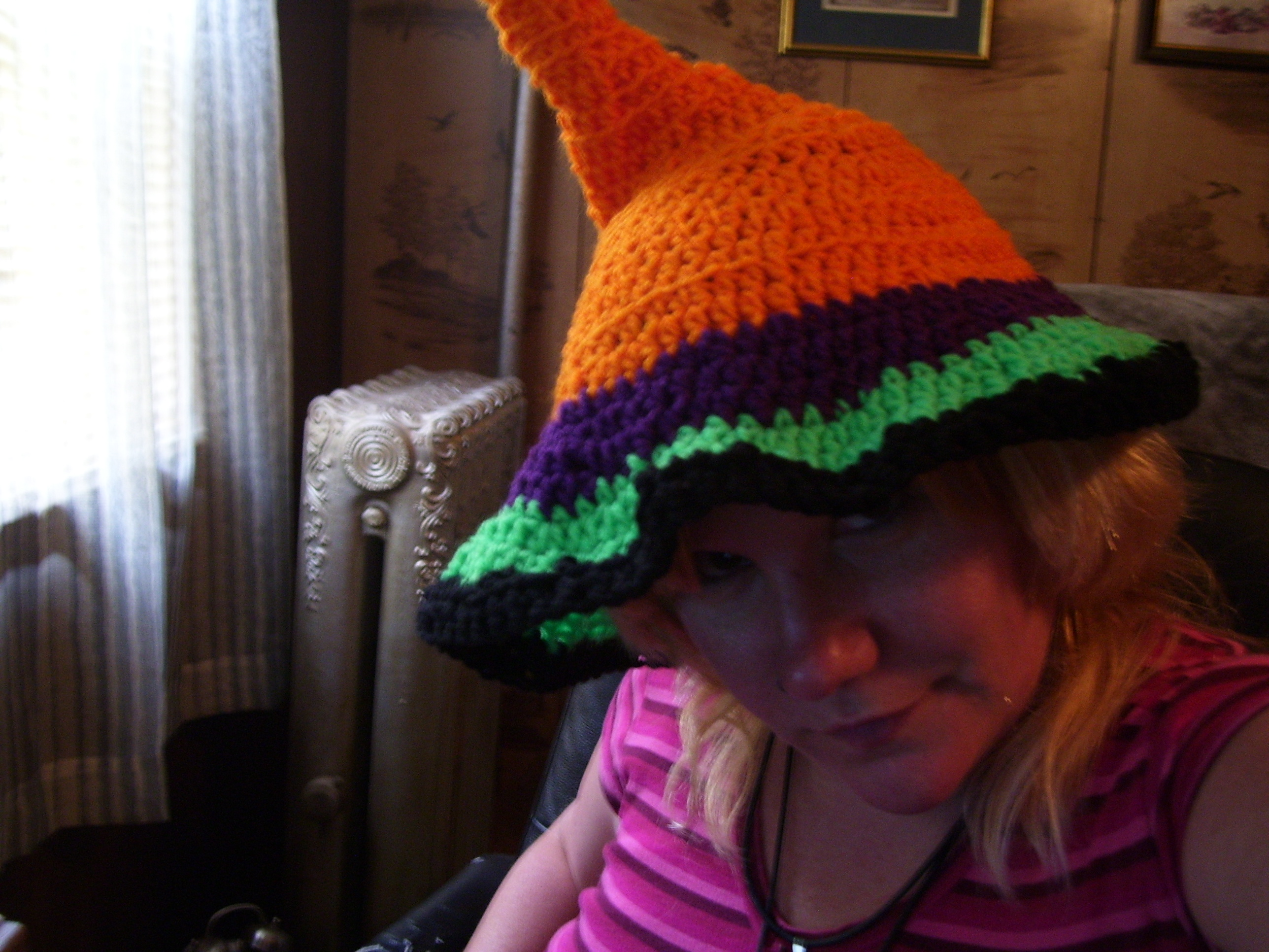 witchy sleeper crocheted hat
