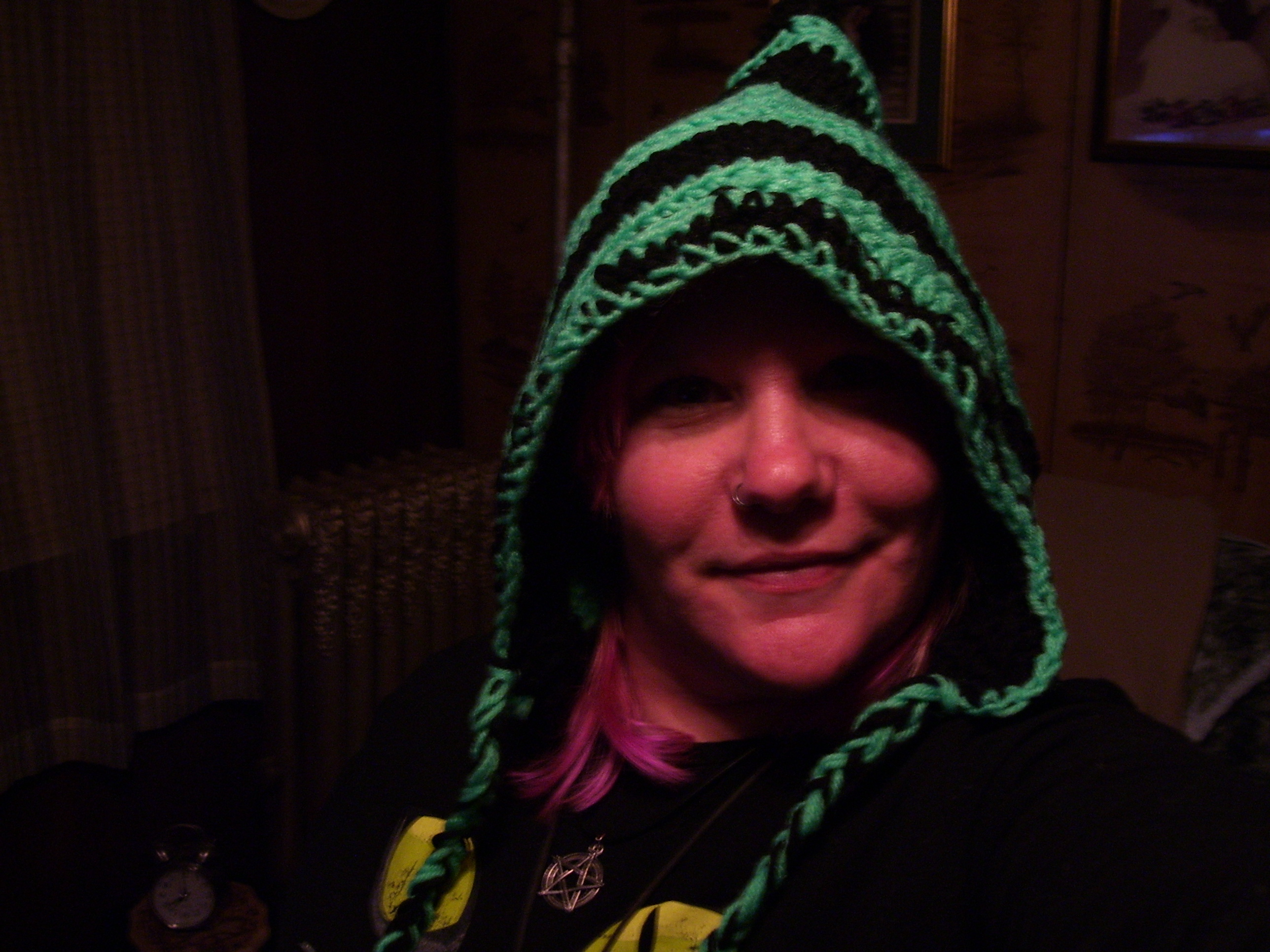 pixie crocheted hat