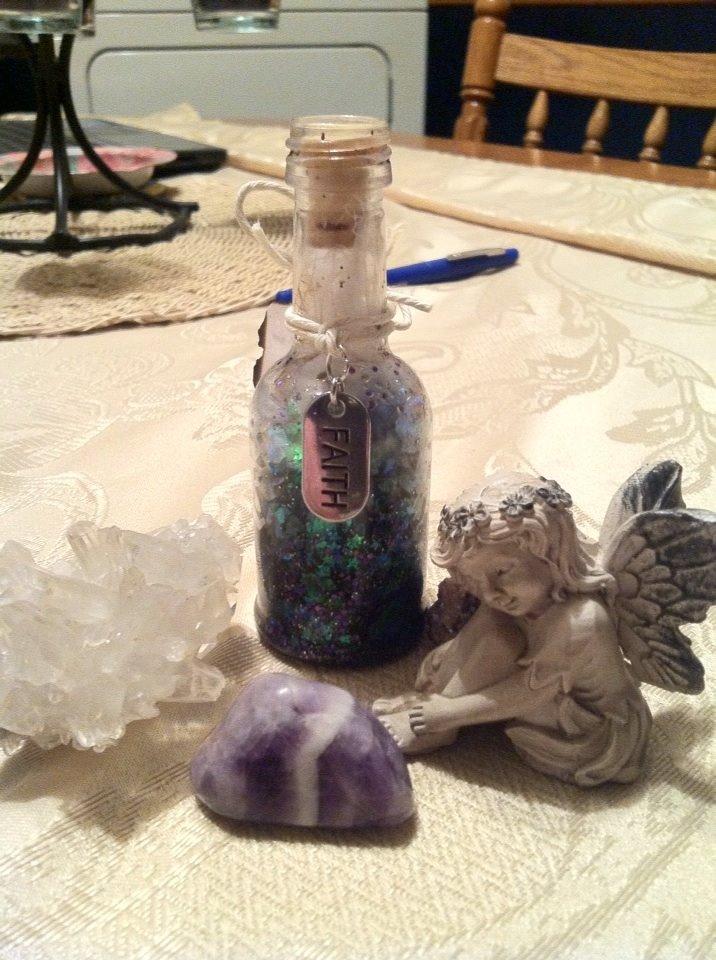 faery wishes bottle handmade