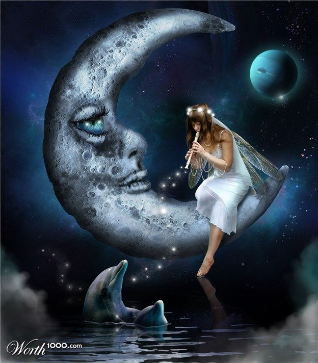 faery and moon